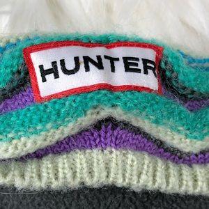 Hunter Grey and Multi-Colored Cuff Boot Socks